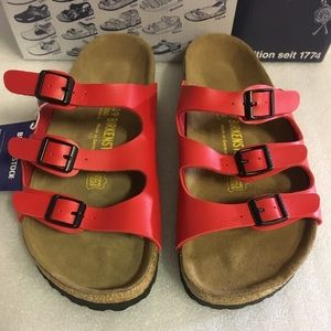 Birkenstock Red Florida Sandals